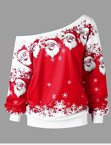 preiswerte Kitschige Weihnachtspullis-Damen Weihnachten Pullover Druck