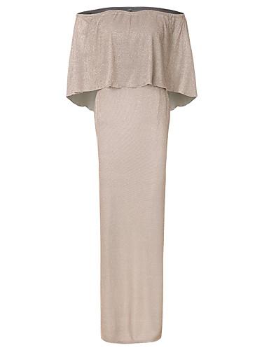 levne Maxi šaty-Dámské Pouzdro Šaty - Jednobarevné, Flitry Maxi Pod rameny