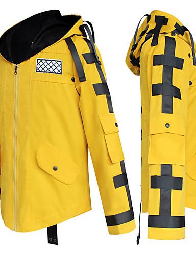 preiswerte Videospiel-Kostüme-Inspiriert von PlayerUnknowns Schlachtfelder Krieger Video Spiel Cosplay Kostüme Cosplay Hoodies Volltonfarbe Langarm Mantel Kostüme