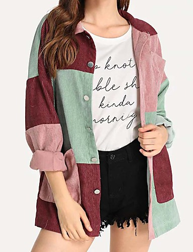 billige Skjorter til damer-Skjorte Dame - Ensfarget Regnbue