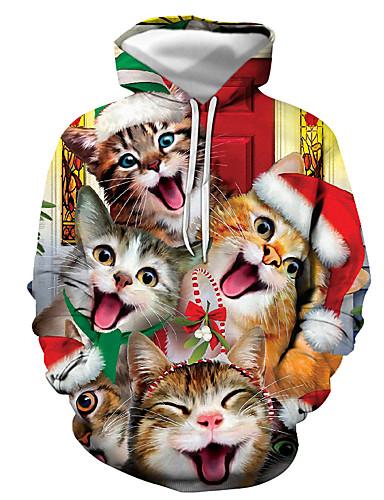 preiswerte ChristmasJumpers-Herrn Grundlegend / Weihnachten Kapuzenshirt Druck / 3D / Cartoon Design