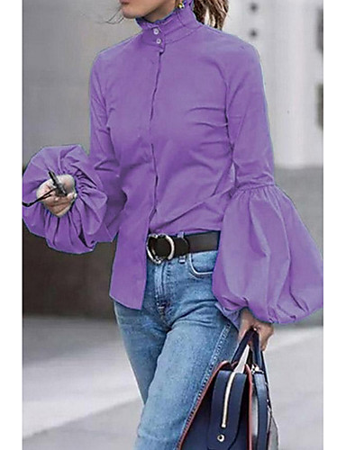 billige Dametopper-Skjorte Dame - Ensfarget Svart