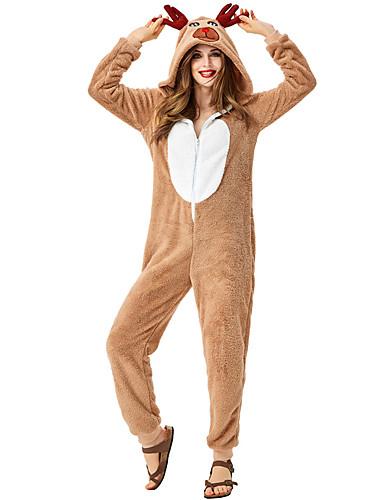preiswerte Cosplay & Kostüme-Rentier Austattungen Damen Erwachsene Kostüm-Party Weihnachten Weihnachten Korallenfleece Kapuzenshirt