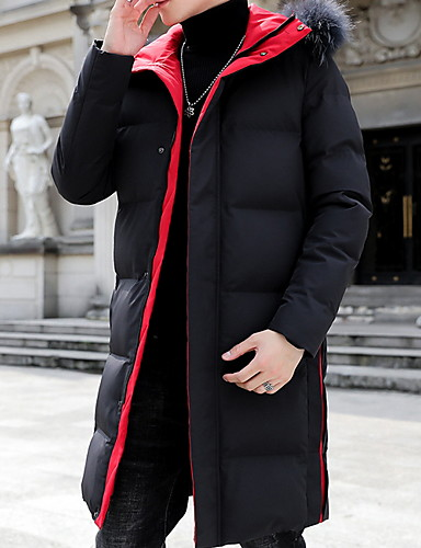 levne Pánské kabáty a parky-Pánské Písmeno S vycpávkou, Polyester Černá / Rubínově červená / Khaki US32 / UK32 / EU40 / US34 / UK34 / EU42