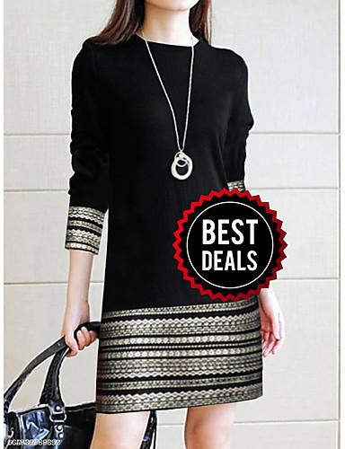 preiswerte Damenbekleidung Ausverkauf-Damen Elegant Hülle Kleid - Spitze, Geometrisch Übers Knie