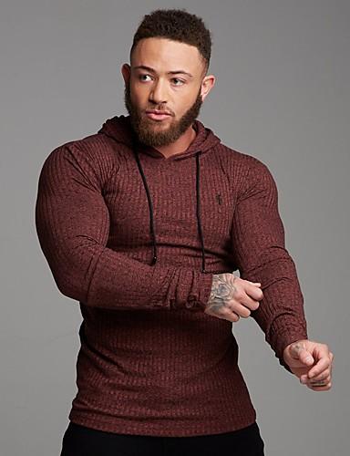 preiswerte Hemden-Herrn Grafik - Grundlegend Hemd Bestickt Schwarz