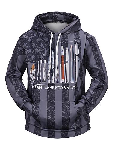 preiswerte Geschnürte Styles Kapuzenpullover & Sweatshirts-Herrn Freizeit / Grundlegend Kapuzenshirt Einfarbig / Nationalflagge
