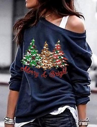 billige T-skjorter til damer-T-skjorte Dame - Bokstaver Svart