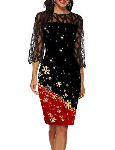preiswerte Elegantes Damenkleid-Damen Party 20er Elegant Flapper (20er) Kleid Einfarbig Knielang Gatsby