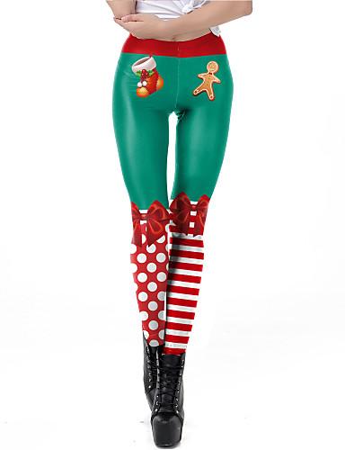 preiswerte Cosplay & Kostüme-Santa Anzüge Hosen Damen Erwachsene Weihnachten Weihnachten Weihnachten Polyester Hosen / Lycra Spandex