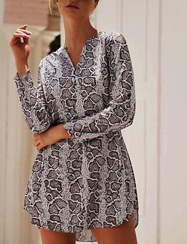 billige Dametopper-Skjorte Dame - Batikkfarget Gatemote Svart