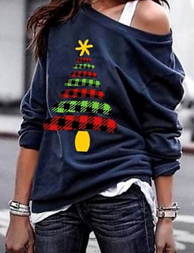 billige T-skjorter til damer-T-skjorte Dame - Geometrisk Svart