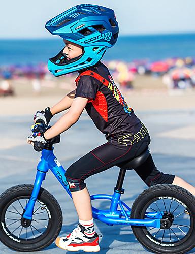 povoljno Biciklističke majice-SANTIC Djeca Kratkih rukava Biciklistička majica - Dječji Red and White Crna / crvena Blue + Pink Bicikl Biciklistička majica Brdski biciklizam biciklom na cesti Sportski Chinlon polyster Odjeća