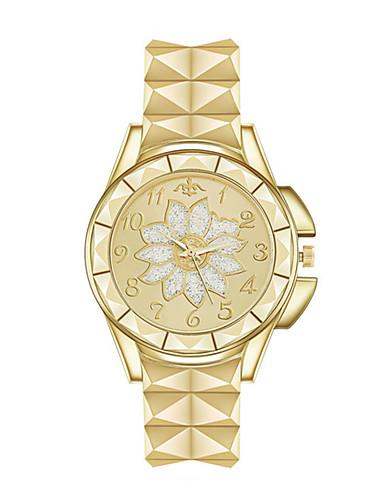 preiswerte Blumen Uhr-Damen Quartz Uhr Blume Retro Silber Gold Rotgold Edelstahl Quartz Rotgold Gold Silber Niedlich Analog