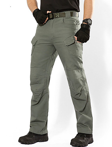 cheap Hiking Trousers & Shorts-Men's Hiking Pants Hiking Cargo Pants Tactical Pants Outdoor Breathable Rain Waterproof Stretchy Wear Resistance Pants / Trousers Bottoms Hiking Climbing Outdoor Exercise Black Dark Green Army Green