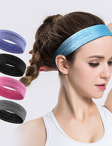 cheap Exercise, Fitness & Yoga-AOLIKES Sweatband HeadBand 1 pcs Sports Polyester Silica Gel Running Exercise & Fitness Gym Workout Anti Slip High Elasticity Moisture Wicking Quick Dry Sweat Control For Men Women