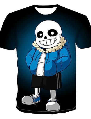 Homens Camiseta 3D / Arco-Íris Azul Marinha