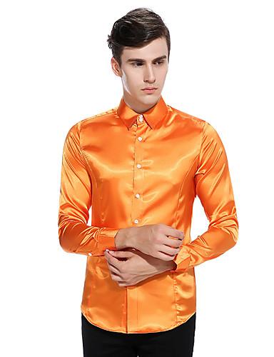 levne Pánské košile-Pánské - Jednobarevné Základní Košile, Patchwork Magické kostky Černá
