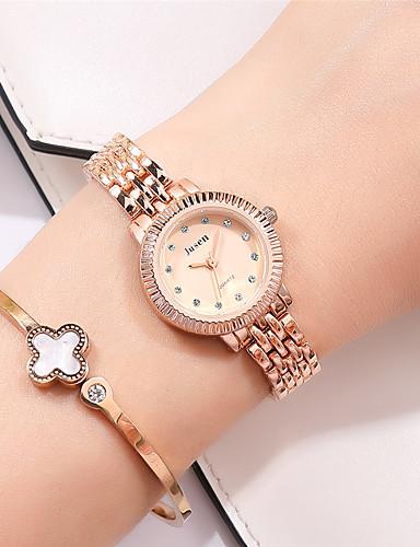 Mulheres Relógios de Quartzo Diamante sintético Luxo Fashion Prata Dourada Lega Chinês Quartzo Ouro + Black Branco + Golden Dourado imitação de diamante 30 m 1 Pça. Analógico Dois anos Ciclo de Vida