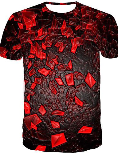 Homens Camiseta 3D / Arco-Íris Vermelho