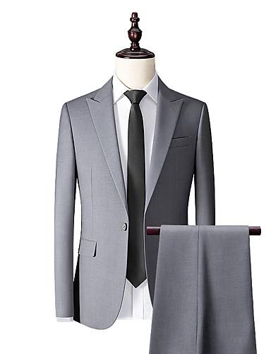 זול חליפות גברים בהתאמה אישית-חליפה בהתאמה אישית לעשן אפור