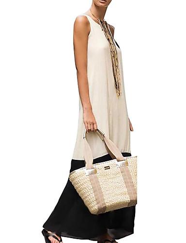 levne Maxi šaty-Dámské Elegantní A Line Šaty - Barevné bloky Maxi