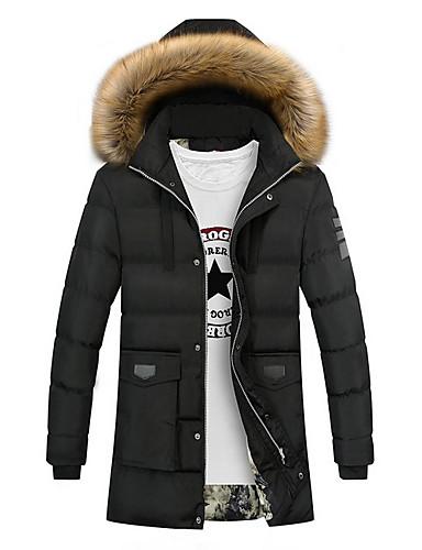 levne Pánské kabáty a parky-Pánské Jednobarevné S vycpávkou, Polyester Černá / Fialová / Armádní zelená US32 / UK32 / EU40 / US34 / UK34 / EU42 / US36 / UK36 / EU44