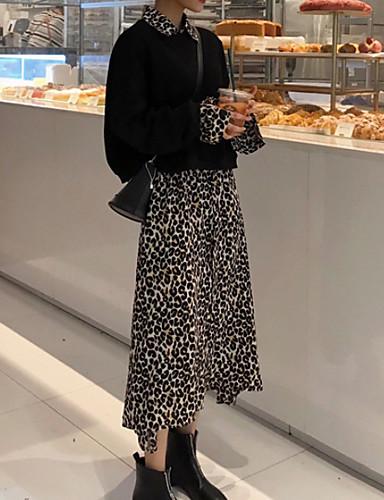 levne Maxi šaty-Dámské Elegantní Dvoudílné Šaty - Barevné bloky, Tisk Maxi