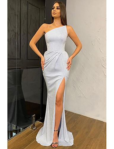 levne Maxi šaty-Dámské Základní Pouzdro Šaty - Jednobarevné, Nabírané šaty Maxi