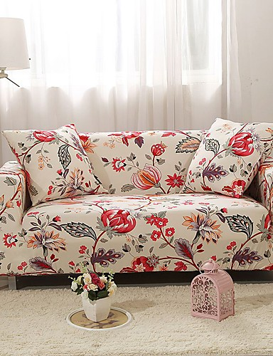 cheap Sofa Cover-Big Printed Sofa Cover Stretch Couch Cover Sofa Slipcovers for 3 Cushion Couch with One Free Pillow Case