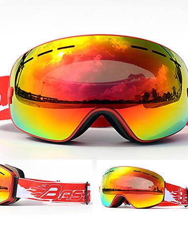 abordables Esquí y Snowboard-BASTO Gafas de Esquí para Adulto Deportes de Invierno Impermeable Tamaño Ajustable