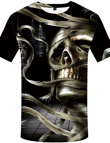 Homens Camiseta 3D Preto