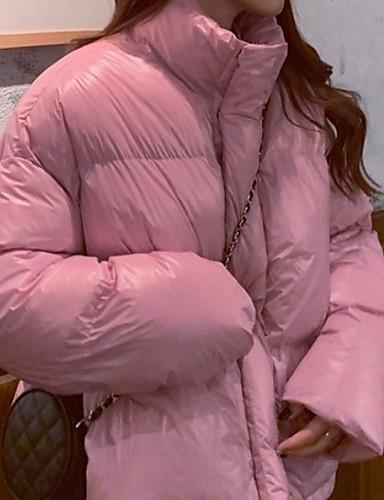 preiswerte Damen Überbekleidung-Damen Solide Gefüttert, Polyester Schwarz / Weiß / Rosa Einheitsgröße