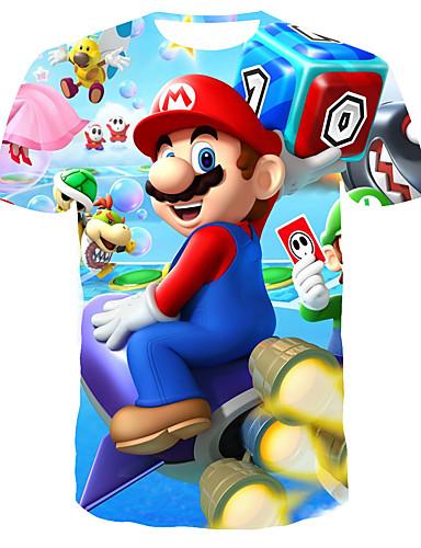 Homens Camiseta 3D Arco-íris