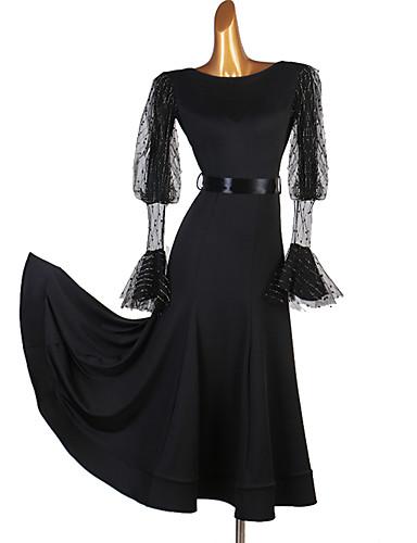 levne Shall We®-Standardní tance Šaty Dámské Výkon Spandex Rozdělení Dlouhý rukáv Šaty
