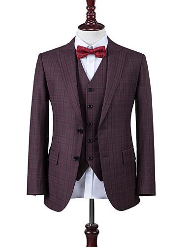 preiswerte Maßanzüge-Beere lila Fensterscheibe benutzerdefinierte Anzug
