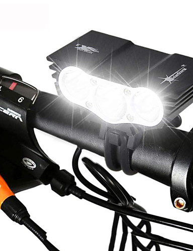 cheap Massive Clearance Sale-LED Bike Light Front Bike Light Headlight Mountain Bike MTB Bicycle Cycling Waterproof Rechargeable Multiple Modes Super Bright 18650 3000 lm Battery Camping / Hiking / Caving Cycling / Bike