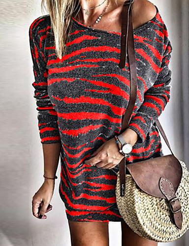 levne Šaty velkých velikostí-Dámské Pouzdro Šaty - Geometrický Mini