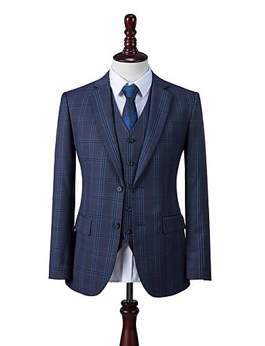 preiswerte Maßanzüge-preußisch blau Fensterscheibe Custom Anzug