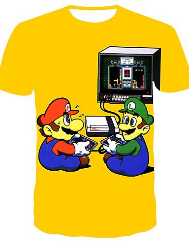 Homens Camiseta 3D Amarelo