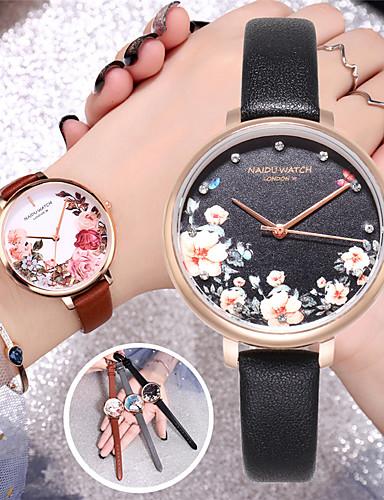 Mulheres Relógios de Quartzo Diamante sintético Fashion Colorido Preta Marrom Cinza TPU Chinês Quartzo Preto Marron Cinzento Adorável imitação de diamante 30 m 1 Pça. Analógico Dois anos Ciclo de