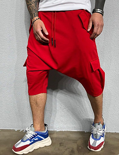 preiswerte Jogginghose-Herrn Grundlegend Jogginghose Hose - Solide Schwarz Rote Dunkelgray US36 / UK36 / EU44 US38 / UK38 / EU46 US40 / UK40 / EU48