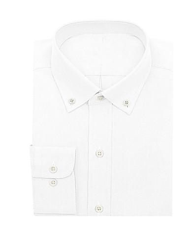 tanie Garnitury męskie na miarę-biała koszula Oxford