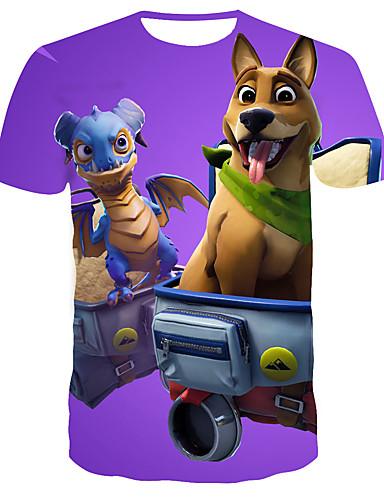 Homens Camiseta 3D Roxo