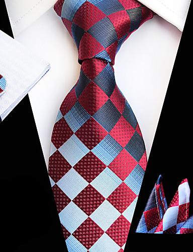 baratos Gravatas e Gravatas Borboleta-Homens Festa / Trabalho / Básico Lenço & Cachecol Estampado / Jacquard