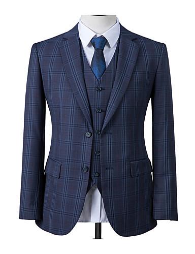 cheap Men's Custom Suits-Prussian blue windowpane custom suit