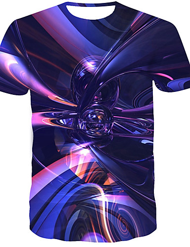Homens Camiseta 3D / Arco-Íris Arco-íris