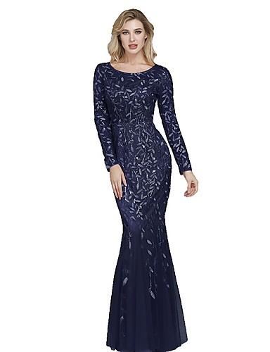 levne Maxi šaty-Dámské Elegantní Pouzdro Šaty - Květinový Maxi