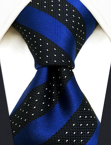 זול עניבות ועניבות פרפר לגברים-עניבת צווארון - פסים / סרוג מסיבה / עבודה / בסיסי בגדי ריקוד גברים