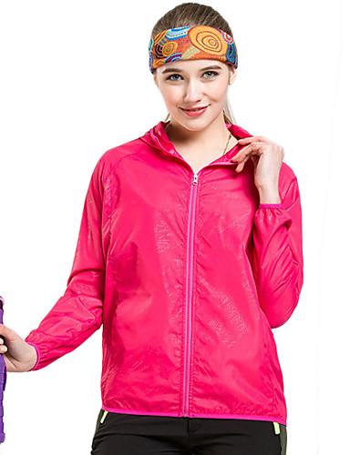 cheap Softshell, Fleece & Hiking Jackets-Men's Hiking Skin Jacket Hiking Windbreaker Summer Outdoor Waterproof Windproof Sunscreen UV Resistant Jacket Hoodie Windbreaker Running Camping / Hiking Hunting White / Black / Yellow / Pink / Orange